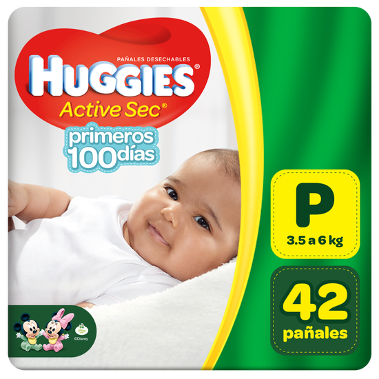 Pañal Huggies Active Sec Pequeño