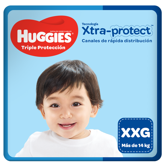 Pañales Huggies Triple Protección XXG