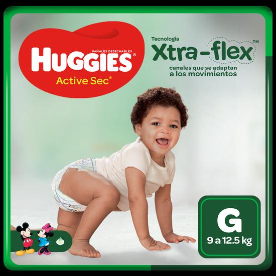 Pañal Huggies Active Sec Xtraflex Talla G