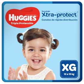 Pañales Huggies Triple Protección Talla XG