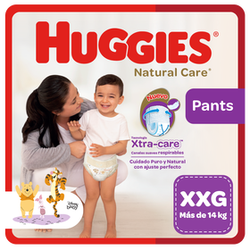 Pañal Huggies Natural Care, Tipo Calzoncito Talla XXG