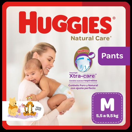 Pañal Huggies Natural Care, Tipo Calzoncito Talla M