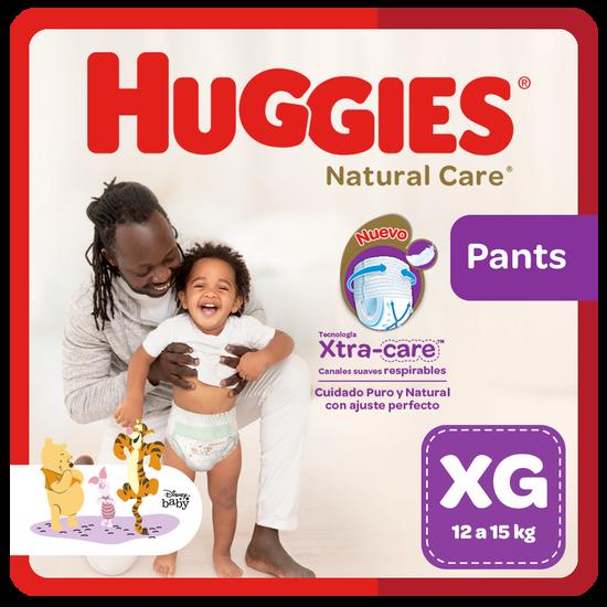 Pañal Huggies Natural Care, Tipo Calzoncito Talla XG