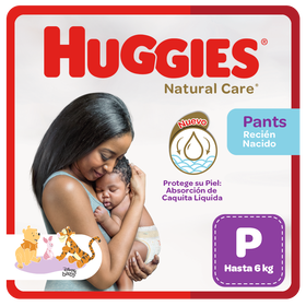 Pañal Huggies Natural Care, Tipo Calzoncito Talla P