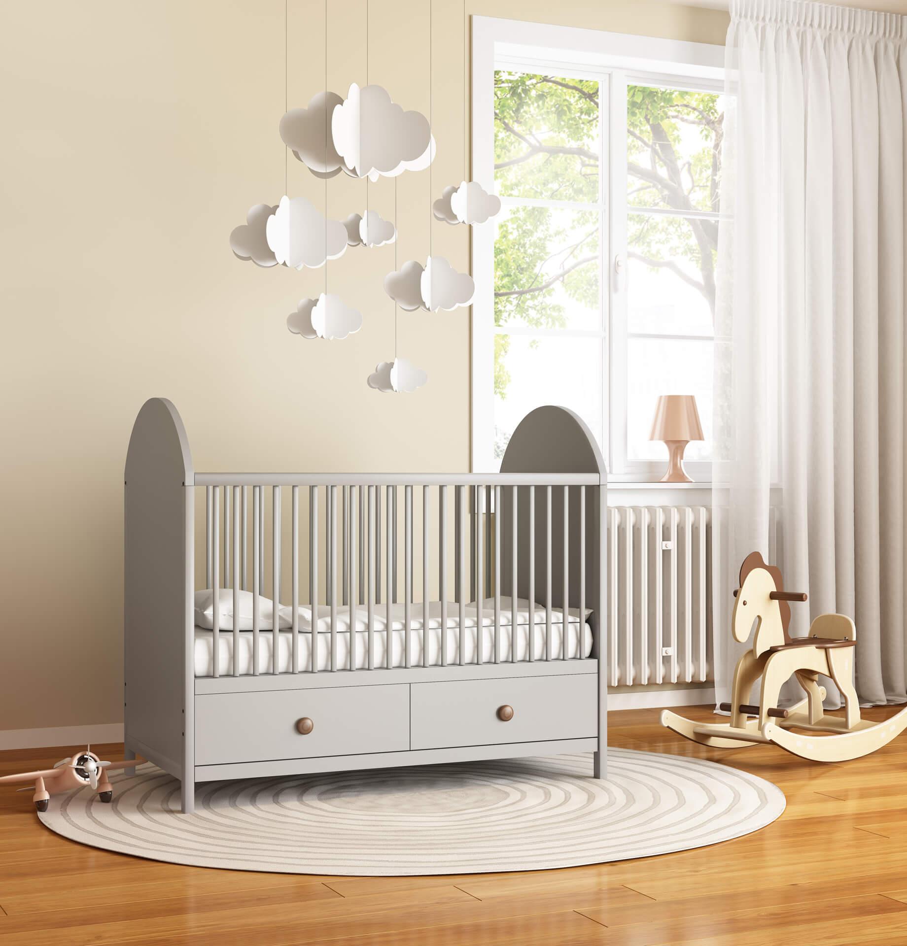 Cuartos para recién nacidos minimalistas